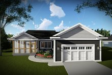 Home Plan - Ranch Exterior - Rear Elevation Plan #70-1459