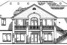 Architectural House Design - Ranch Exterior - Rear Elevation Plan #5-136