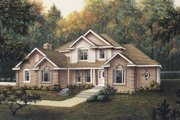 European Style House Plan - 4 Beds 4 Baths 3357 Sq/Ft Plan #57-116 Exterior - Front Elevation
