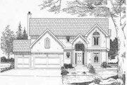 European Style House Plan - 4 Beds 3.5 Baths 2501 Sq/Ft Plan #6-101
