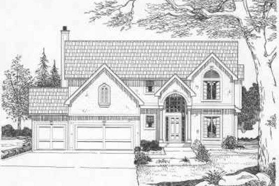 European Exterior - Front Elevation Plan #6-101