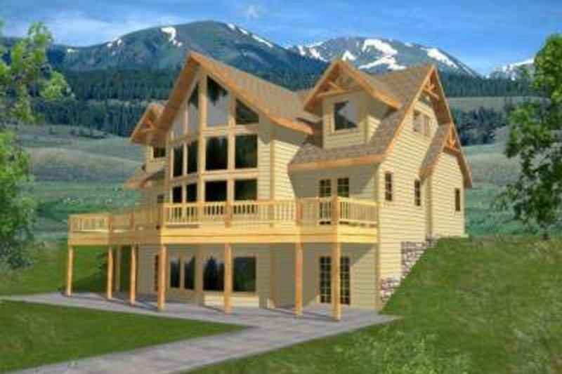 Modern Style House Plan - 3 Beds 2.5 Baths 2281 Sq/Ft Plan #117-380 Exterior - Front Elevation
