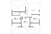 Craftsman Style House Plan - 4 Beds 2.5 Baths 1866 Sq/Ft Plan #48-439 Floor Plan - Upper Floor Plan
