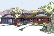 Ranch Style House Plan - 3 Beds 2.5 Baths 2060 Sq/Ft Plan #60-553 Exterior - Front Elevation