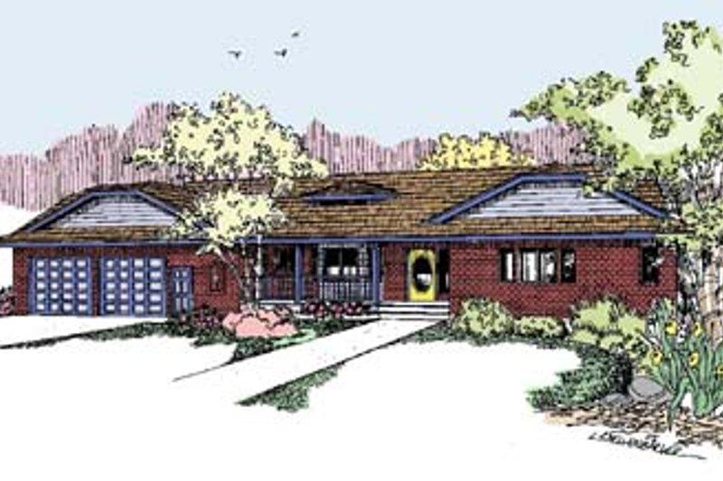 Ranch Exterior - Front Elevation Plan #60-553 - Houseplans.com