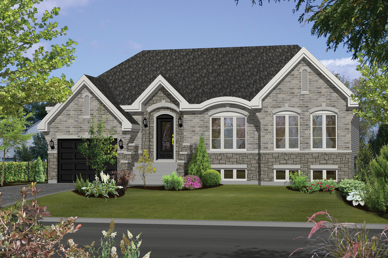 European Style House Plan - 3 Beds 1 Baths 1297 Sq/Ft Plan #25-4463 Exterior - Front Elevation