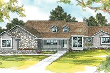 Home Plan - Ranch Exterior - Front Elevation Plan #124-206