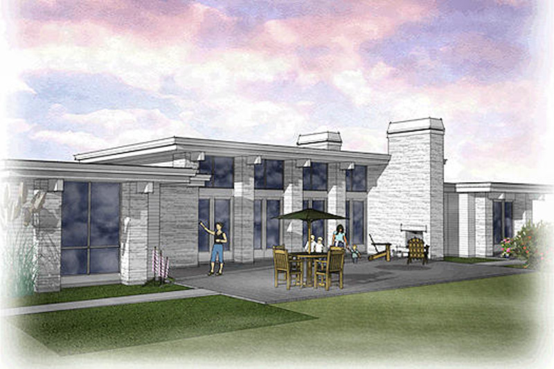 Modern Exterior - Rear Elevation Plan #48-476 - Houseplans.com