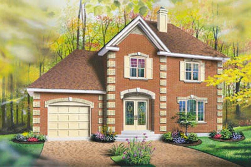 Home Plan Design - European Exterior - Front Elevation Plan #23-2139
