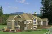 Country Style House Plan - 4 Beds 3.5 Baths 4756 Sq/Ft Plan #51-548 Exterior - Rear Elevation