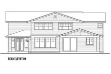 House Plan Design - Craftsman Exterior - Rear Elevation Plan #569-41