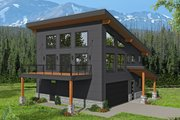 Modern Style House Plan - 3 Beds 2 Baths 1509 Sq/Ft Plan #932-42 Exterior - Front Elevation