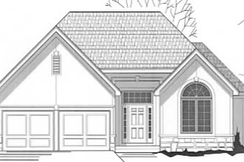 Traditional Style House Plan - 3 Beds 3 Baths 2369 Sq/Ft Plan #67-465 Exterior - Front Elevation