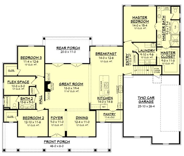 Farmhouse Floor Plan - Main Floor Plan Plan #430-147