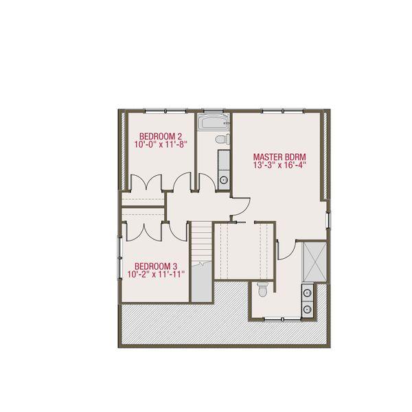 Craftsman Floor Plan - Upper Floor Plan Plan #461-51