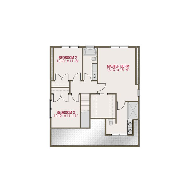 Craftsman Floor Plan - Upper Floor Plan #461-51