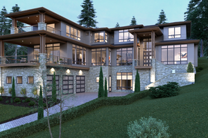 Contemporary Exterior - Front Elevation Plan #1066-39