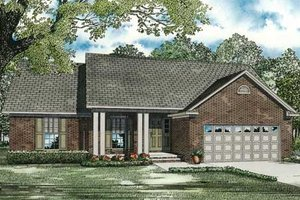 Traditional Exterior - Front Elevation Plan #17-2292