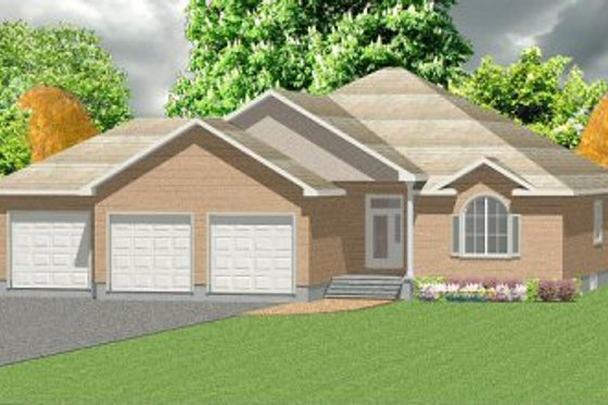 Exterior - Front Elevation Plan #414-102