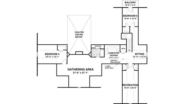 Beach Floor Plan - Other Floor Plan Plan #56-640