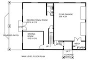 Country Style House Plan - 2 Beds 2 Baths 2638 Sq/Ft Plan #117-881 Floor Plan - Lower Floor Plan