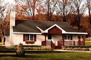 Cottage Style House Plan - 2 Beds 2 Baths 1217 Sq/Ft Plan #22-509 Exterior - Front Elevation