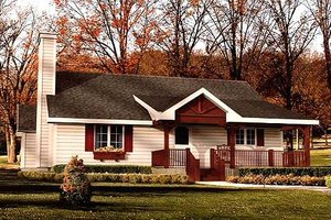 Cottage Exterior - Front Elevation Plan #22-509