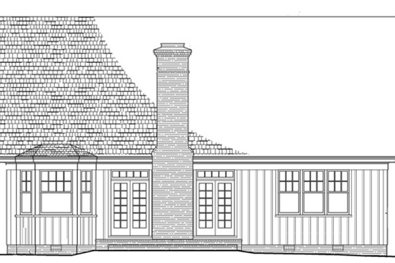 Cottage Exterior - Rear Elevation Plan #137-260 - Houseplans.com