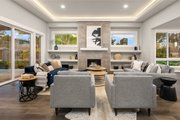 Contemporary Style House Plan - 4 Beds 3.5 Baths 3980 Sq/Ft Plan #1066-62 Interior - Family Room