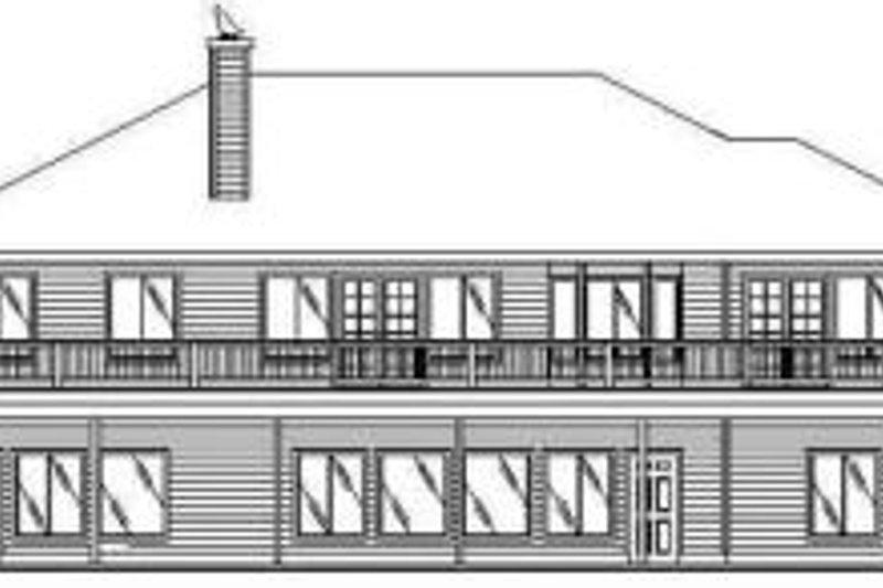 Traditional Exterior - Rear Elevation Plan #117-144 - Houseplans.com