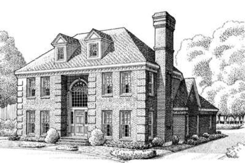 Architectural House Design - European Exterior - Front Elevation Plan #410-126