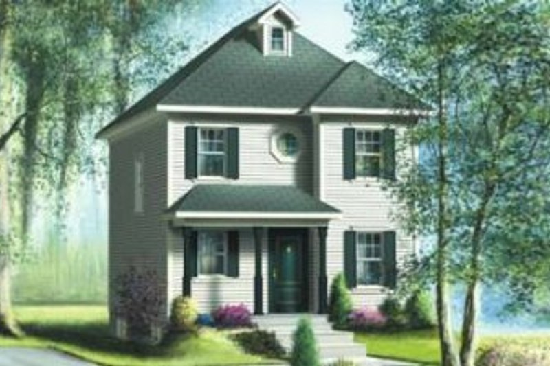 Farmhouse Style House Plan - 3 Beds 1.5 Baths 1192 Sq/Ft Plan #25-4038 Exterior - Front Elevation