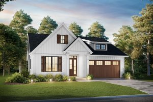 Contemporary Exterior - Front Elevation Plan #48-1039