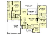 European Style House Plan - 4 Beds 2.5 Baths 2399 Sq/Ft Plan #430-142 Floor Plan - Main Floor Plan