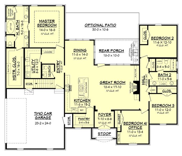 European Floor Plan - Main Floor Plan Plan #430-142