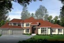 House Plan Design - Traditional Exterior - Front Elevation Plan #96-215