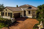 Mediterranean Style House Plan - 3 Beds 3 Baths 2779 Sq/Ft Plan #930-480 Exterior - Front Elevation
