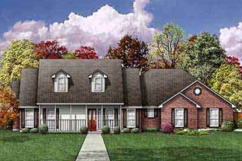 Colonial Exterior - Front Elevation Plan #84-214