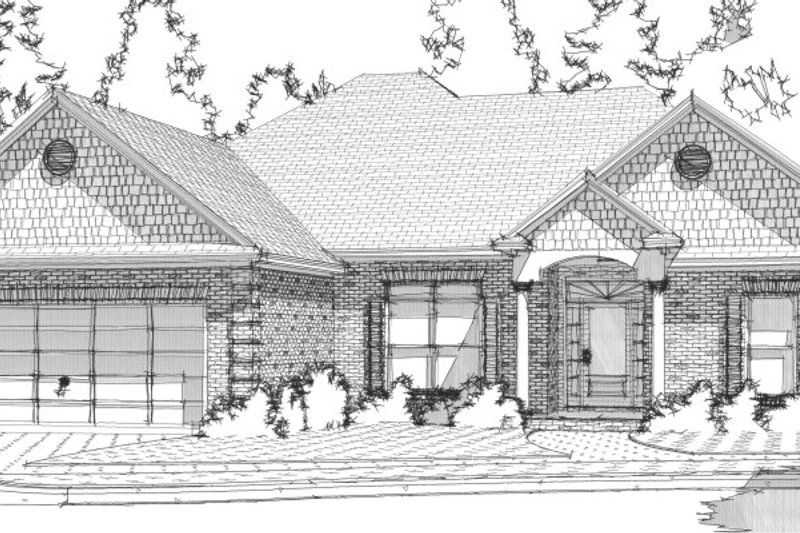 Traditional Style House Plan - 4 Beds 2.5 Baths 1866 Sq/Ft Plan #63-218 Exterior - Front Elevation