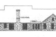 European Style House Plan - 4 Beds 2.5 Baths 2261 Sq/Ft Plan #310-200 Exterior - Rear Elevation