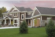 Craftsman Style House Plan - 3 Beds 2.5 Baths 3204 Sq/Ft Plan #51-303 Exterior - Front Elevation