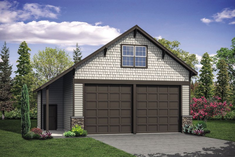 Craftsman Exterior - Front Elevation Plan #124-1103