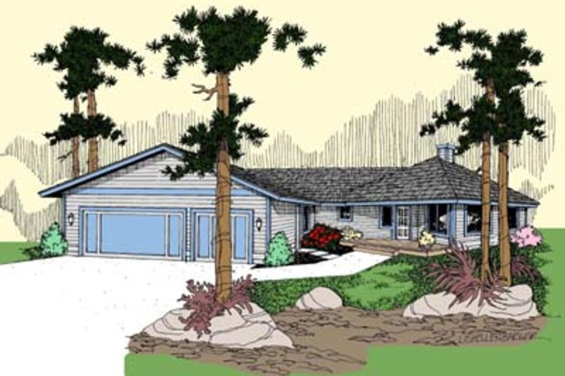 Modern Exterior - Front Elevation Plan #60-562 - Houseplans.com