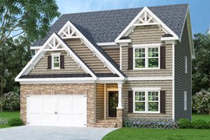 Craftsman Exterior - Front Elevation Plan #419-224