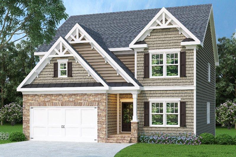 Dream House Plan - Craftsman Exterior - Front Elevation Plan #419-224