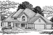 Traditional Style House Plan - 4 Beds 2.5 Baths 2830 Sq/Ft Plan #70-454 Exterior - Front Elevation