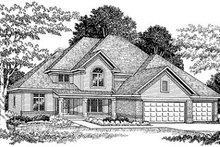 House Plan Design - Traditional Exterior - Front Elevation Plan #70-454