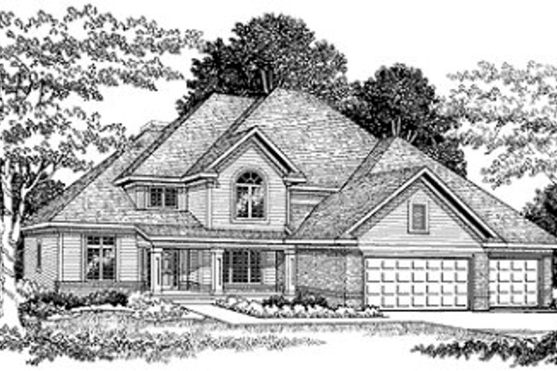 Traditional Exterior - Front Elevation Plan #70-454