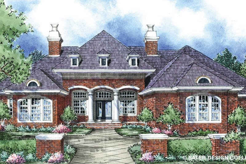 House Plan Design - European Exterior - Front Elevation Plan #930-296