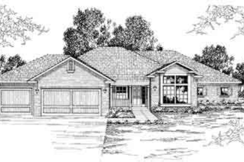 Modern Exterior - Front Elevation Plan #124-201